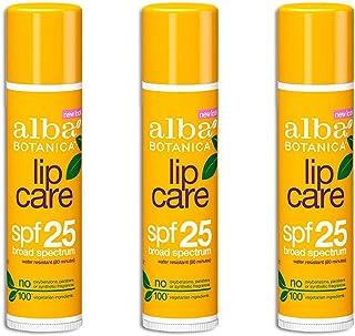 Alba Botanica Lipcare Spf 25 Spf, 0.15 Ounce (3 Pack)