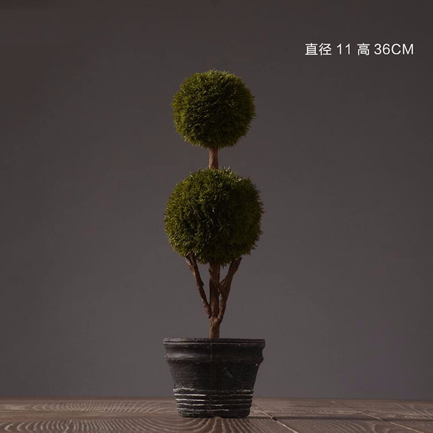 JRFBAHome Decorations American Nordic home decorations Cafe theme restaurant ornaments, soft ornaments, potted plants,D