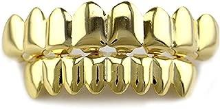Halloween Universal 14k Gold Hip Hop Teeth 8 Top &8 Bottom Grills Set