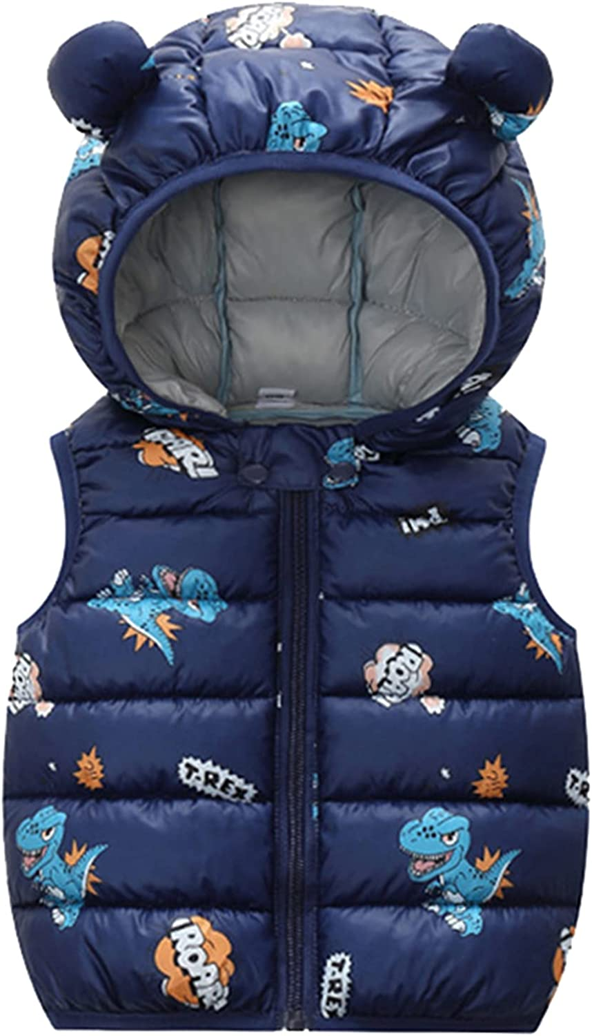 Unisex Baby Oklahoma City Mall Girls Boys Puffer Down Direct sale of manufacturer Vest Winter B Up Zip Toddlers