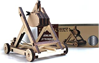 Abong Tabletop Laser Cut Trebuchet Kit - Sturdy Wooden Miniature Catapult Model - Ultimate Long Range Attack - STEM Model ...