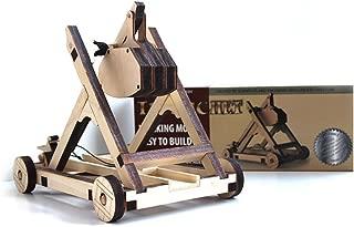 Abong Tabletop Laser Cut Trebuchet Kit - Sturdy Wooden Miniature Catapult Model - Ultimate Long Range Attack - STEM Model Kit Ideal for Classroom Demonstration