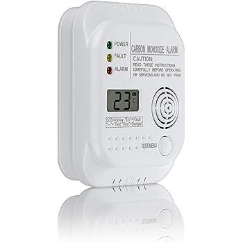 VisorTech Alarma de Gas: Detector de monóxido de Carbono ...