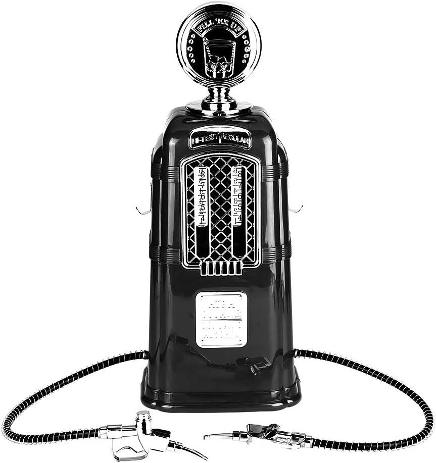 【𝐏𝐚𝐬𝐜𝐮𝐚】 Dispensador de cerveza, pistolas dobles de 1000cc Bomba de bebida de vino Licor Alcohol Dispensador de cerveza Accesorios de barra(Negro)