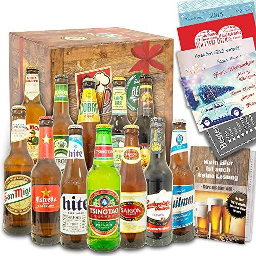 Biere der Welt 12 Flaschen - Geschenke für Männer