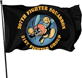AAC 307th Fighter Squadron 31st Fighter Group Garden Flags 3 X 5 in Indoor&Outdoor Decorative Home Fall Flags Holiday Decor