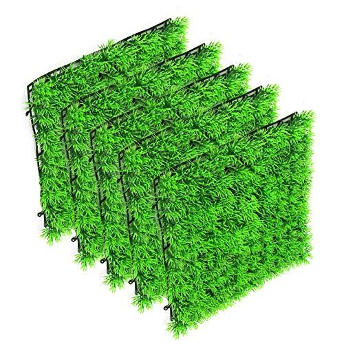 Nicoone Plantes d'aquarium - 5 tapis de gazon artificiel avec ventouses inférieures - ABS - Pour décoration d'aquarium