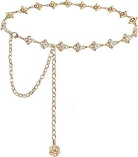 Glamorstar Chain Belt for Women Rhinestone Crystal Waist Belts for Dress Gift