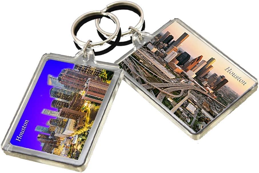 KR016 Houston City Keychain United States Travel Photo Keyring