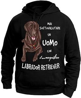 Chocolate Labrador Cane Uomo Felpa Maglione-Pet Regalo Lab