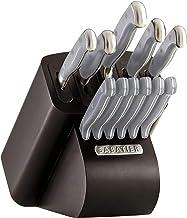 Sabatier Self-Sharpening Edgekeeper Pro 12-Piece Forged Triple Rivet Knife Block Set, Grey