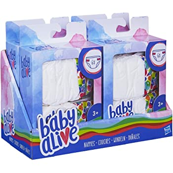 6 pack 6 Pack Baby Alive Diapers Pack