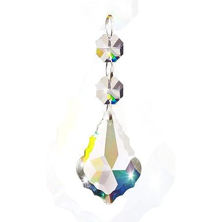 Guirlandes Belle Vous Pampilles Pour Lustres Forme de Glace Prismes Attrapes-Soleil Chandelier - Perle Cristal Transparentes 11,5 cm pour Lustre x20 Pendentif Perle en Cristal pour D/écoration