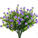 MIHOUNION 4 Pcs Fleurs Artificielles Violet Faux Bouquet Simulation Plante Artificielle pour Maison,Bureau,Party,Marriage