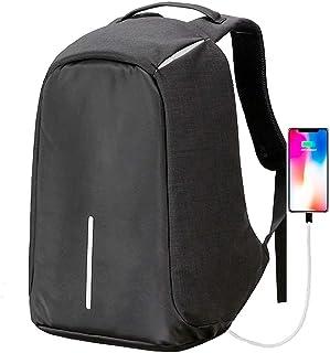 na Mochila Antirrobo Impermeable con Cable USB para Power Bank en el Interior - Espacio para Laptop, Tablet, Cámara - Múlt...