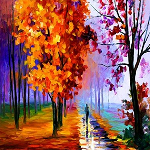 Wotion 11.81'x11.81' Forest Path Full Drill All Square DIY 5D Diamond Painting Kit with Carton Package for Adults Rhinestone Embroidery Cross Stitch set Arts Craft Gift