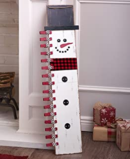 The Lakeside Collection 3-Ft. Christmas Card Holders - Snowman