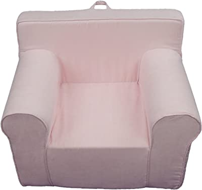 Fun Furnishings The Ultimate Kid's Chair, Light Pink Micro