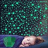 904 Stück Leuchtsterne Selbstklebend Wandtattoo Wandsticker, MOCOLOM Sterne Sternenhimmel Wanddeko Aufkleber, Fluoreszierende Leuchtend Deko für Baby Schlafzimmer Jungen Mädchen Kinderzimmer