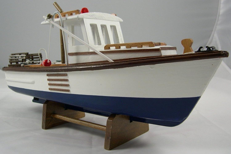 UD Replica New England Lobster Boat Model  Nautical Decor