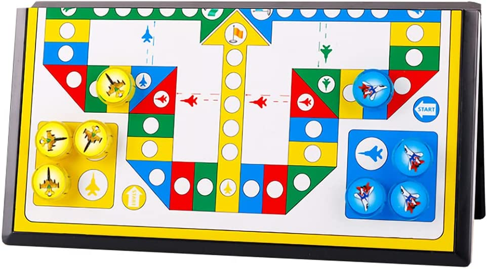 KUOPE Ludo Magnetic Board Game Financial sales sale Max 64% OFF Set Li Folding with