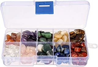 Saundra Peal Crystal Quartz,1/2 lb 10-Stone Mix:Red Crystal.Amethyst,Red&Green Gem,Yellow Agate,Tiger's Eye,Turquoise,Rose...