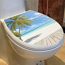 LXCQI Wc-Aufkleber Toilettensitzaufkleber Selbstklebend Badezimmerdekoration Badezimmerdekoration Wasserdicht