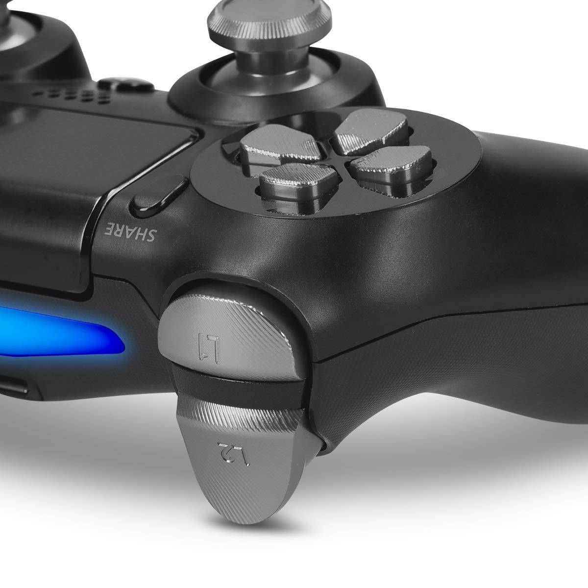 kwmobile Botones de repuesto compatible con Playstation Controlador PS 4 Pro / PS4 Slim (2. Gen) - Botones de aluminio en plata: Amazon.es: Videojuegos