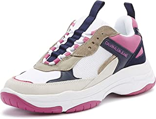 Calvin Klein Jeans Maya Womens White/Pink/Blue Trainers