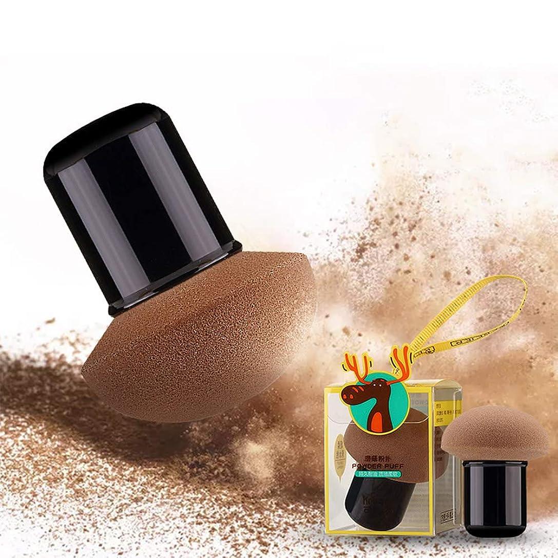 コックフィヨルド誤ってACHICOO 多機能メイク用スポンジパフ 乾湿両用 キノコ形 プロメイク 化粧 美容ツール 携帯式 柔らかい 肌に優しい