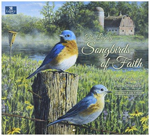 Legacy Publishing Group 2017 Wall Calendar, Songbirds of Faith