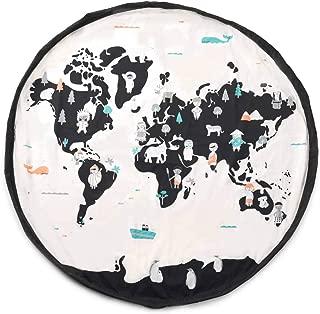 PLAY & GO- Saco Almacenaje World Map, Multicolor (worldmap)