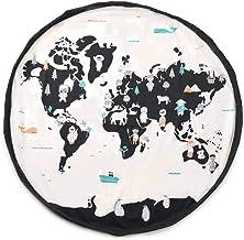 play&go(プレイアンドゴー) 2in1おもちゃ収納バッグ & プレイマット ワールドマップ 直径140㎝ 【PG0021】 プレイマット おもちゃ 収納 マット 片付け バッグ 遊びマット 赤ちゃん リバーシブル 世界地図