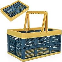 Foldable Clothes Laundry Storage Basket Foldable Storage Bin with Handles Organizer for Kitchen Bedroom Organizing Shelf N...