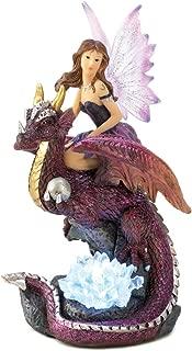 Fairy on Dragon Figurine