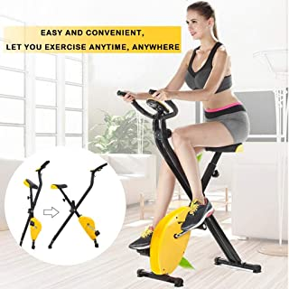 $86 » N/P Exercise Bike Folding Home Cycling Magnetic Trainer Fitness Stationary Machine