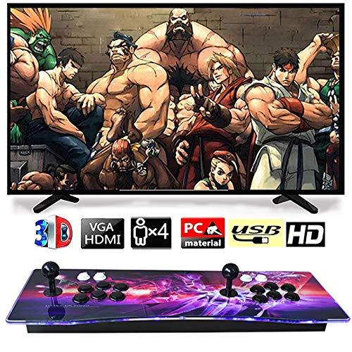 CNMJI Pandora's Box 3D Video Home Spielkonsole Arcade 4 Spieler Mit 2680 Retro Spiel 1920X1080 Full HD Unterstützt Verlängert TF Karte Und USB Festplatte Fur PC TV PS4 Enthalten 6 Tasten