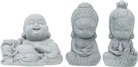 Generic Cute Small Buddha Statue Tea Pet Zen Garden Tea Tray Figurine India Yoga Mandala Sculpture Car Home Desktop Decora...