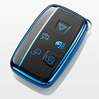 Royalfox(TM) 5 Buttons Full TPU Smart keyless Entry Remote Key Fob case Cover for Land Rover Defender Discovery Sport LR3 ...