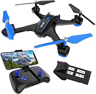 REMOKING RC Drone with 720P FPV Wi-Fi HD Camera Live Video Racing Quadcopter Headless Mode 2.4GHz 360°flip 4 Channels Alti...