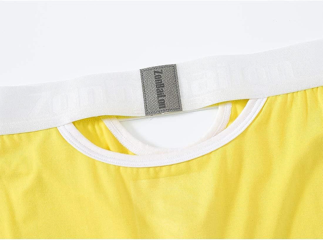 Sexy Mens Briefs Cutout Bamboo Underwear Low-Rise Comfortable Pouch Brief S M L XL 2XL