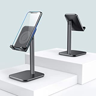 Cell Phone Holder for Desk, Adjustable Cellphone Stand Holder with Anti-Slip Weighted Base, Smart Phone Desk Stand Dock, Cradle, Compatible with iPhone Xs Xr 8 X 7 6 6s Plus, All Android Phones