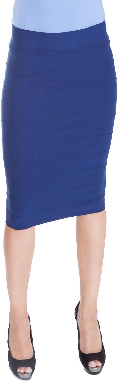 ESTEEZ Women's Bodycon Pencil Skirt - Below Knee Length