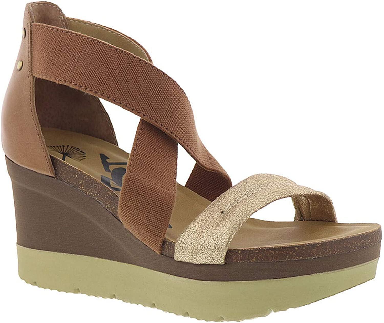OTBT Womens Half Moon Wedge Sandals