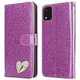 iPEAK For LG K42 Case (6.6'') Shiny Leather Bling Glitter