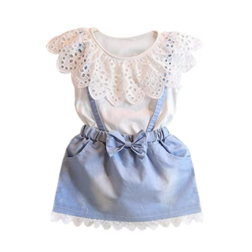 f3881a54ad28f Amlaiworld ❤️Robe de Filles Filles Robe de Fête Princesse Robe en Coton  Denim Robes de