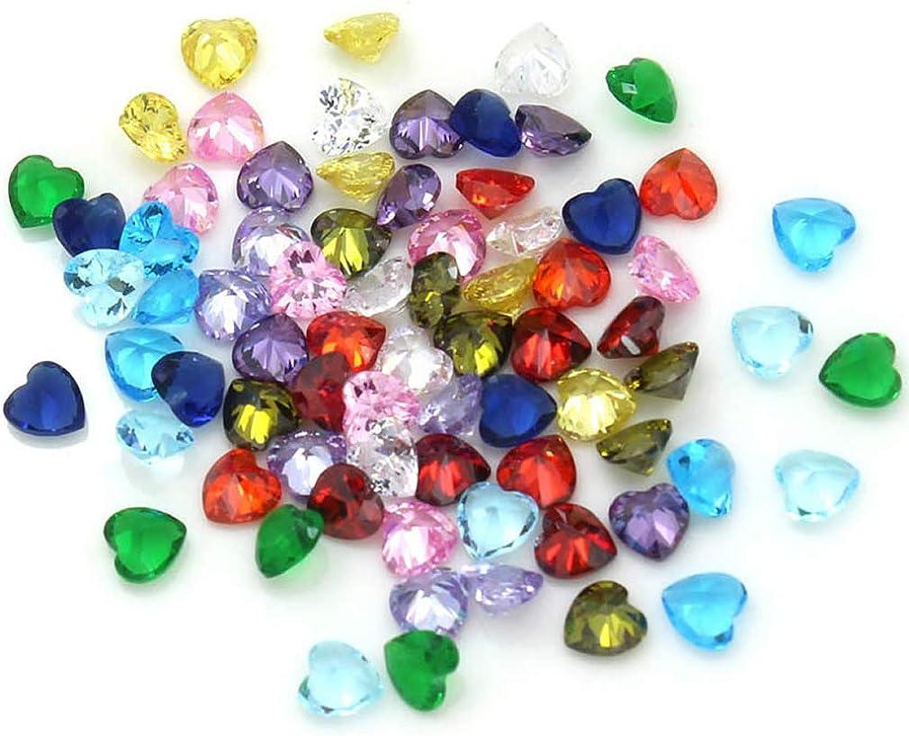 JOLIN 24Pcs 12 Month 5mm CZ Cubic Zirconia Birthstones Charms for DIY Glass Floating Charm Living Memory Lockets Bracelets