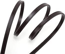 Genuine Leather Cross Body Strap for Alma Damier Ebene Pochette Eva Favorite PM MM Mini Coated Dark Brown with Silver Hardware (Brown120cm Silver HW)