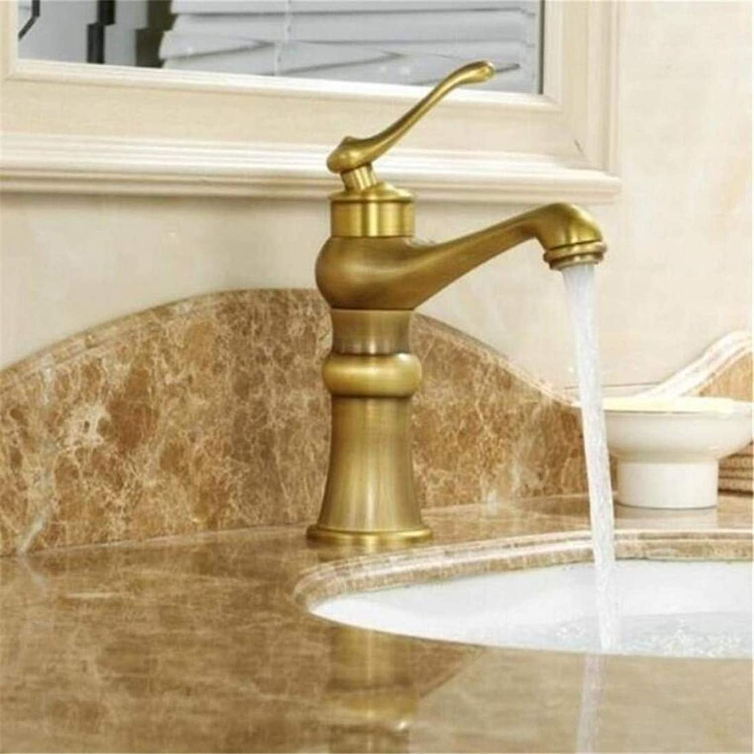 Modern High Quality Vintage Faucet Single Handle Hot Cold Mixer Water Tap Black