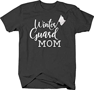 Winter Guard mom Cursive caps Flag Parent Support Love Proud T Shirt for Men